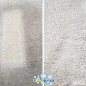 limpeza tapete antes depois